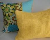 Yellow Pillow - Gold Pillow - Soft Pillow - Throw Pillow - 12 x 16 inch - Soft Evening Glow Yellow Accent Pillow