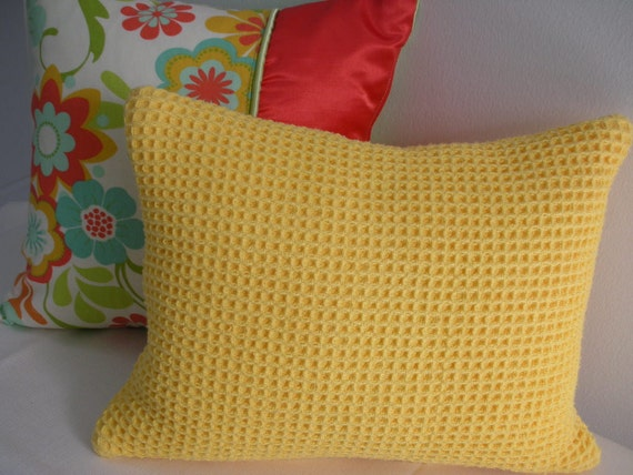 Soft Yellow Decorative Pillows : Yellow Pillow Gold Pillow Soft Pillow by PillowscapeDesigns