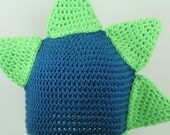 CLEARANCE SALE - Dino The Dinosaur Beanie Hat - Green/Blue/Barney/T-Rex/Godzilla - Kids 4-10 Years - Ready To Ship - Handmade & Crocheted