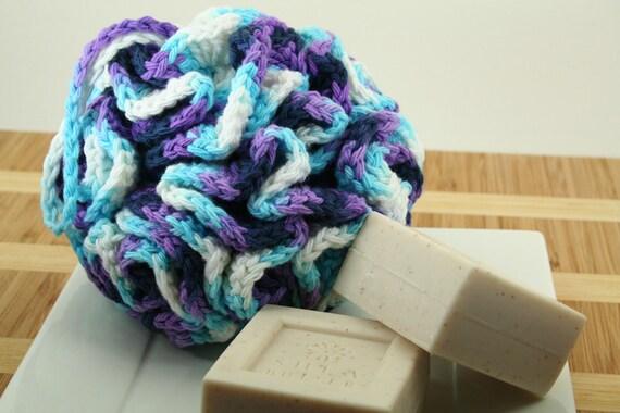 CLEARANCE SALE - Jumbo Loofah Bath Puff - Scrubber, Scrubbie, Bathroom, Shower, Eco-Friendly - OOAK Ready To Ship - Handmade & Crocheted