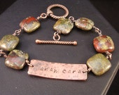 Anam Cara Personalized Bracelet in Dragon's Bloodstone