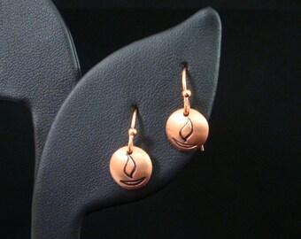 Copper UU Chalice Earrings