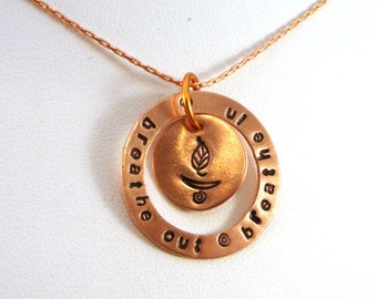 UU Chalice - Custom Circle and Disc Copper Pendant / Necklace