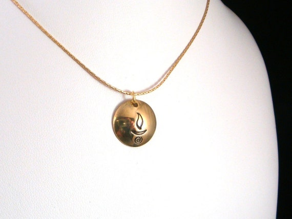 UU Chalice Bright Brass Necklace