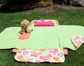 Peace Hearts Flowers nap mat, play mat - KidKoozie