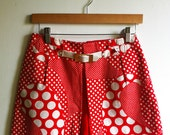 Retro red skort with white polka dots (reserved for rowdysis)