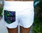 pocket sweatpant shorts