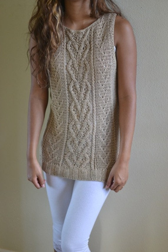 soft crochet knit blouse