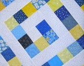 Mini Quilt: Blue and Yellow Maze