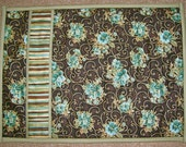 Elegant Brown and Sage Quilted Placemats (set of 4)