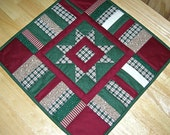 Traditional Plaid Table Topper - Christmas Decor
