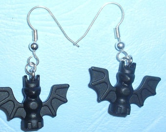 Lego Bat Earrings
