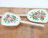 1950's brush and mirror vanity set