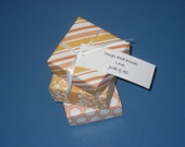 Origami Boxes for Wedding and Shower Favors in Orange - set of 20