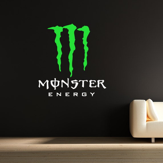 wall sticker monster energy decal kids boys by