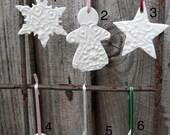 3 Porcelain Christmas Decorations