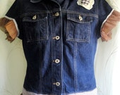 Frilly Restyled Guess Denim Jacket