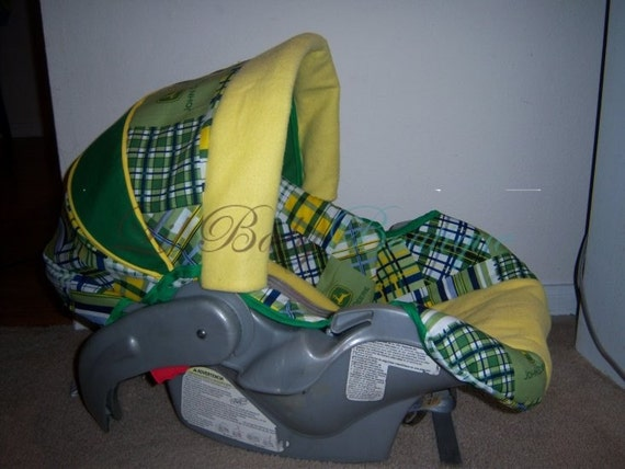 items similar to john deere infant car seat cover on etsy. Black Bedroom Furniture Sets. Home Design Ideas