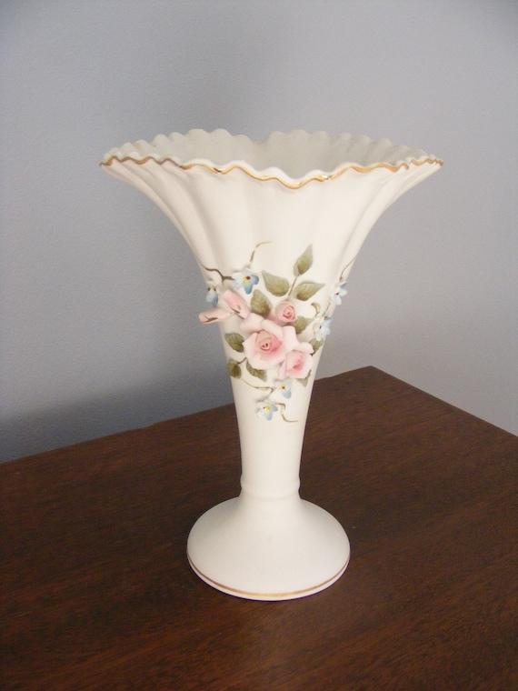 Lefton Vase 1940 S Rose Bud