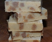 Oatmilk and Honey fragrance soap with cubes of gently exfoliating oatmeal cinnamon soap
