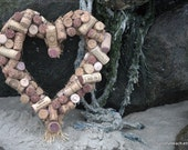 Sale - Used Wine Cork Heart 12""