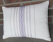 Items similar to Decorative Pillow Heirloom Style Lavender Lace SAMPLE SALE on Etsy