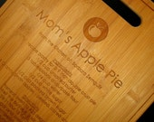 Cutting Board, Personalized Custom Engraved Bamboo Cutting Board, Favorite Recipe Cutting Board