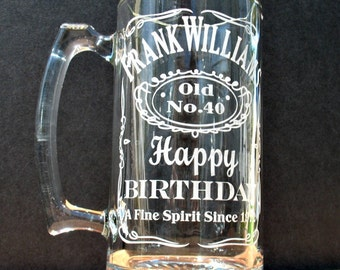 Beer Mug, Personalized Sport Mug, Birthday Beer Mug, Custom Engraved Beer Mug
