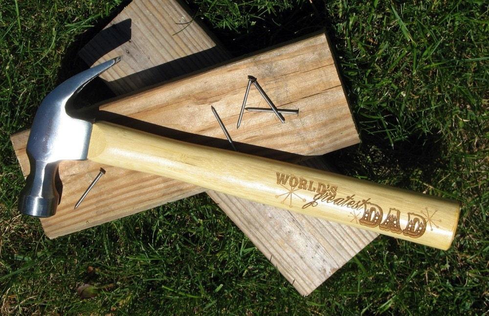 Custom engraved hammer by MarcellasEngravables on Etsy