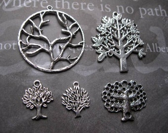 Tree Charm Collection in Silver Tone - C1183