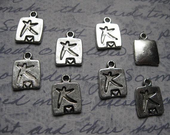 8 dance movement charms pendants - C534