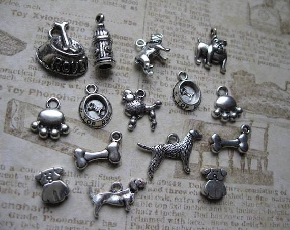 Dog Collection of Charms / Beads / Pendants - C1178