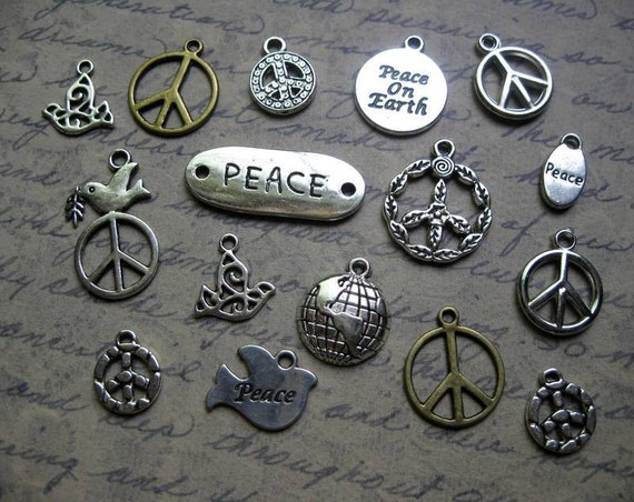 16 World Peace Charm Pendant Collection - C1259