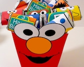 Instant Download Monster Box Elmo inspired  - PRINTABLE PARTY - Treat Popcorn Box