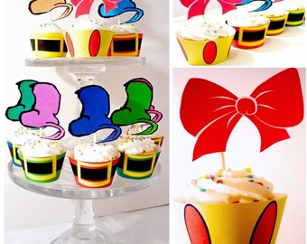 Printable Party - Snow White Party Princess Cupcake Toppers and Wrappers
