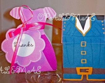Instant download -Princess Rapunzel 2 Treat Boxes