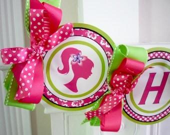 Malibu Glamour Girl Printable Party Birthday DIY Banner