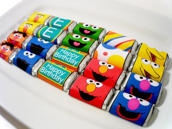 PRINTABLE CANDY WRAPPER - Monster party Sesame Street inspired monster candy Collection