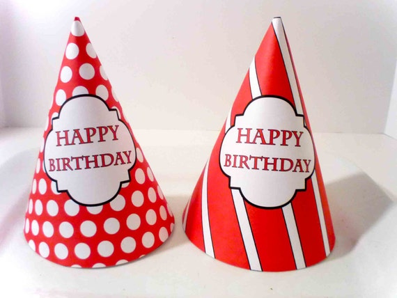 Pirate Party PRINTABLE Birthday Hats by OpalandMae on Etsy