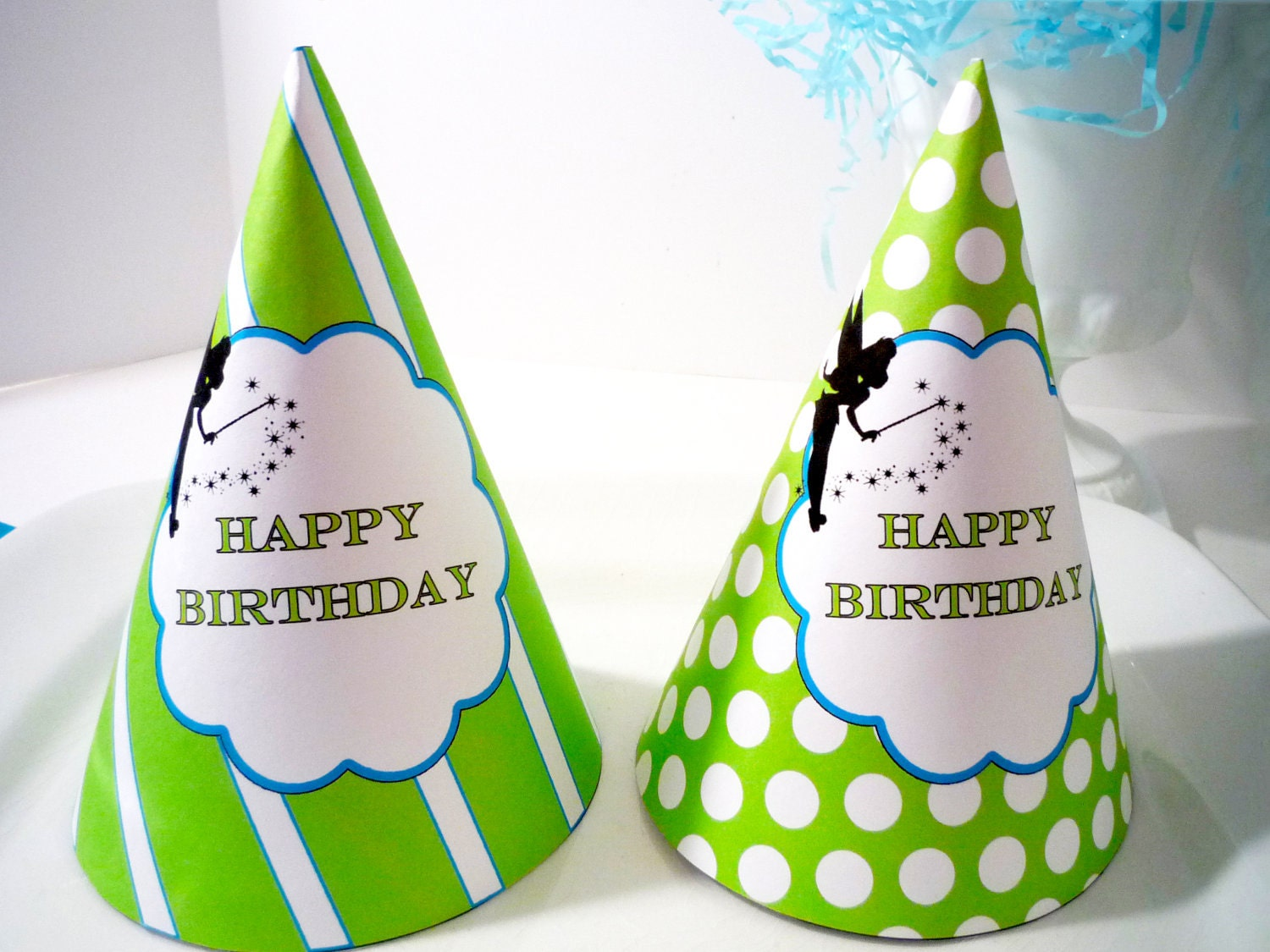 Tinkerbell Pixie Party PRINTABLE Birthday Hats
