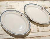 Reserved for HuntingHorse - Set of 2 Vintage Restaurant-ware Platters