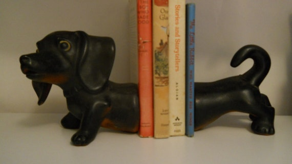 Vintage Dachshund Bookends