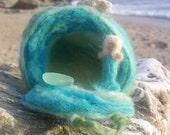 Needle Felted Mermaid In Her Undersea Home