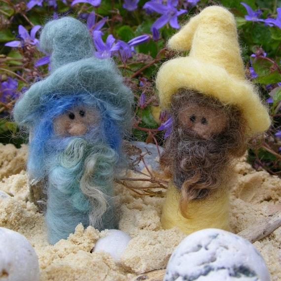 Needle Felted Cornish Beach Gnomes