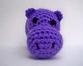 Light Purple Crochet Hippo