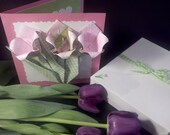 Spring Flowers Greeting Card Origami Tulips
