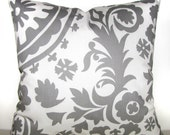 WHITE and gray pillow