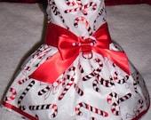 Custom Dress for Cynthia Stone Christmas Holiday Candy Cane Organza Dog Dress