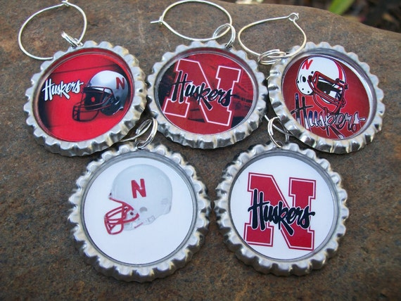 Nebraska Cornhuskers wine glass charms for the wine lover in your life....