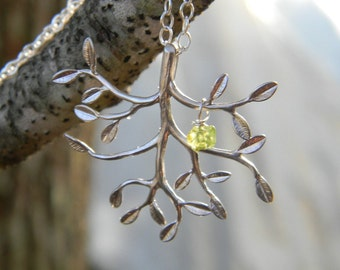 Tree of Life Necklace, Sterling Silver Necklace, Family Tree Necklace, Family Necklace, Family Tree Necklace